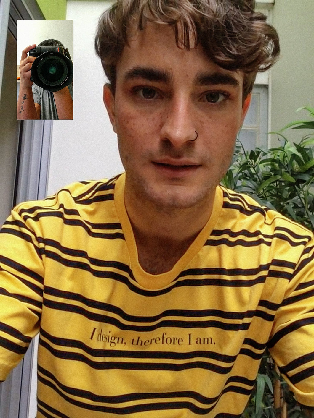 DESIGN PHILOSOPHY T-SHIRT IN YELLOW STRIPES (PRE-ORDER) - Boy Mode