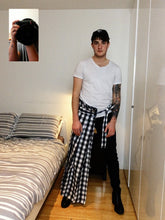 Load image into Gallery viewer, SUPER GINGHAM DECONSTRUCTED HALF-SKIRT - TYPE L (PRE-ORDER) - Boy Mode