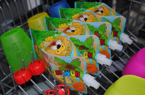 reusable pouches in the dishwasher