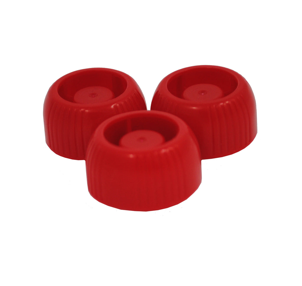 Nom Nom Kids Red replacement caps - pack of 3