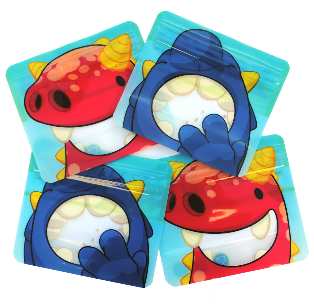 4 Reusable snack bags by Nom Nom Kids