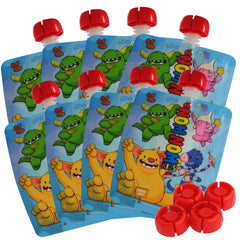 Monster Reusable Food Pouch x 8 pouches