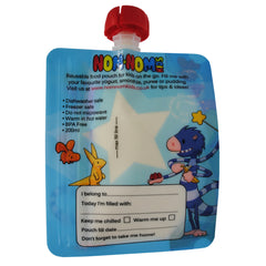 Reusable Food Pouch - 200ml monster Pouches x 4 by Nom Nom Kids