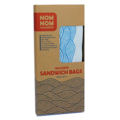 4 WAVE reusable sandwich bags