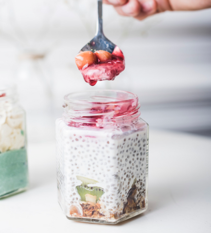 Banana Hemp Chia Pudding