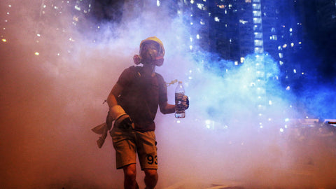 Tear Gas in Hong Kong