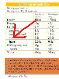 read both ingredient list and nutrition table