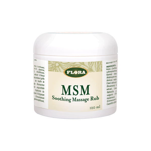 Flora MSM Soothing Massage Rub 120ml