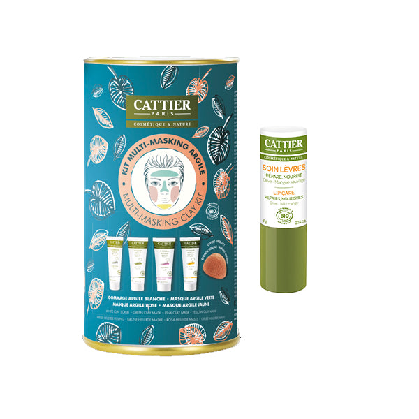Cattier Multi-Masking Clay & Lip Care Kit