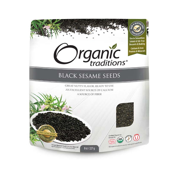 Organic Traditions Black Sesame Seeds 227g