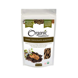 Organic Traditions Dark Chocolate Almonds 100g