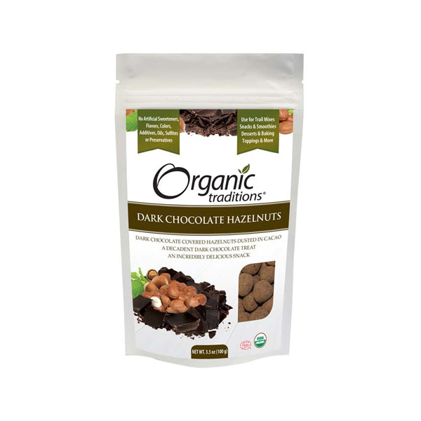 Organic Traditions Dark Chocolate Hazelnuts 100g