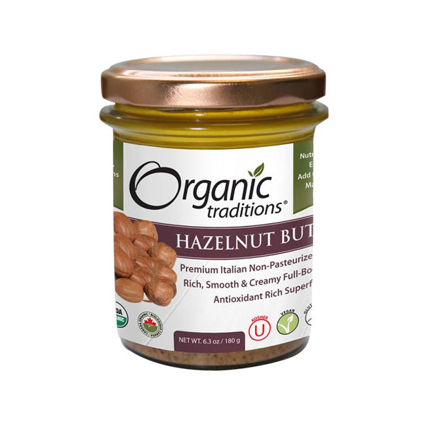Organic Traditions Hazelnut Butter 180g