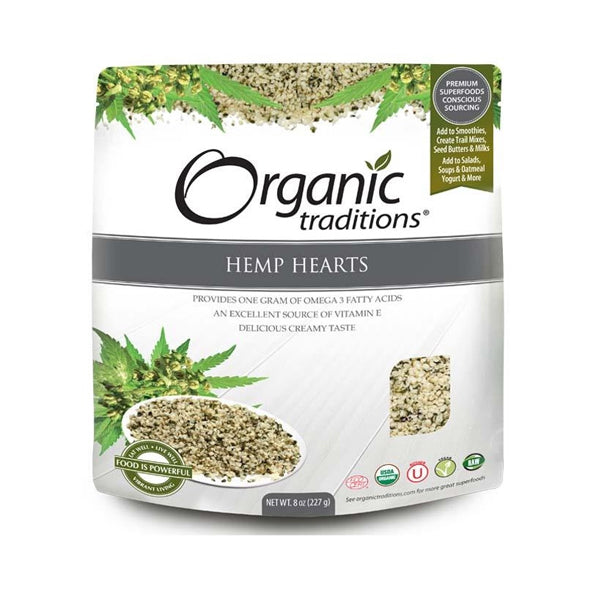 Organic Traditions Hemp Hearts 227g - keto