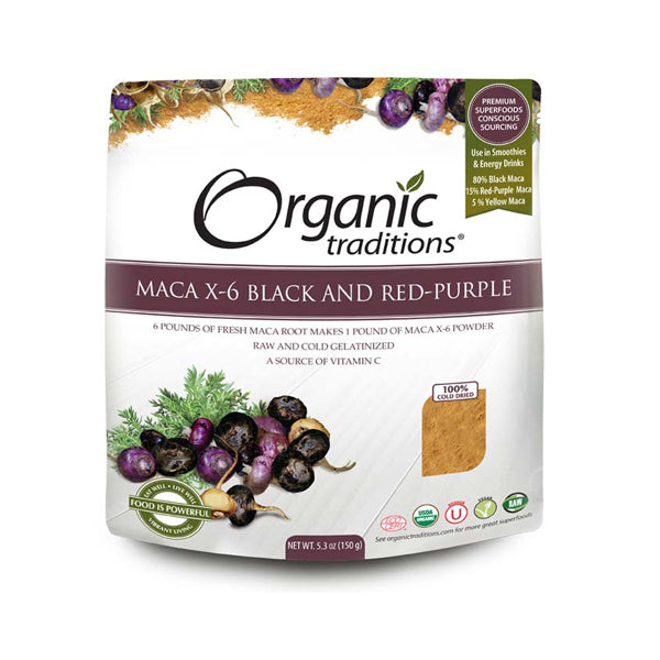 Organic Traditions MACA X-6 Black and Red-Purple 150g