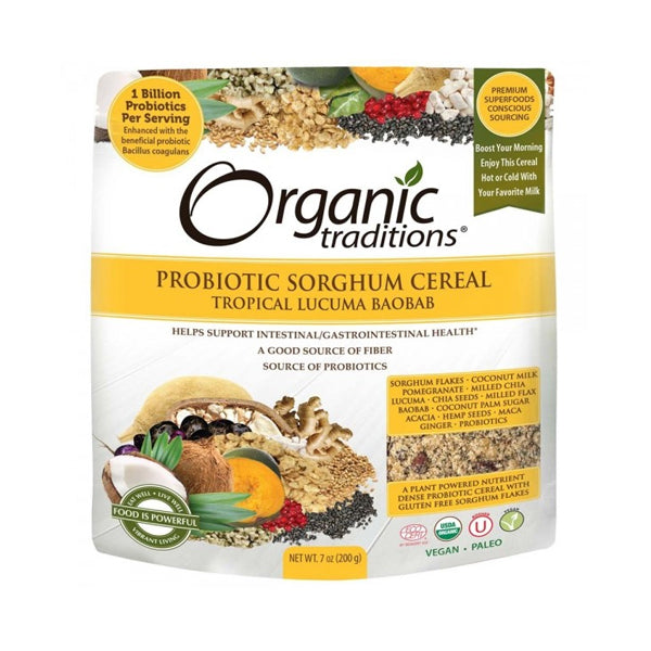 Organic Traditions Probiotic Cereal Lucuma Baobob 200g