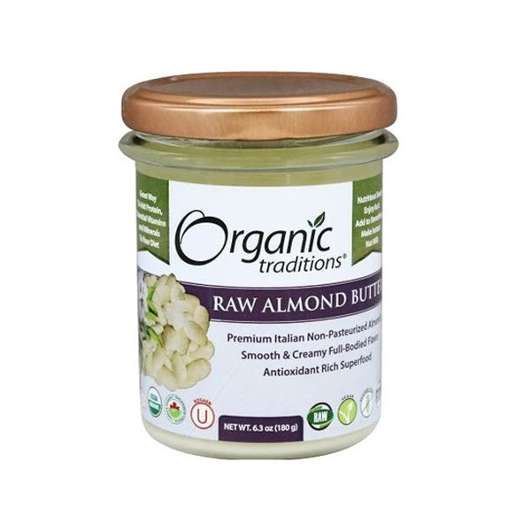 Organic Traditions Raw Almond Butter 180g