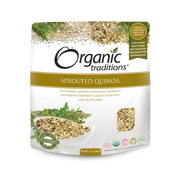 Organic Traditions Sprouted Organic Quinoa 340g