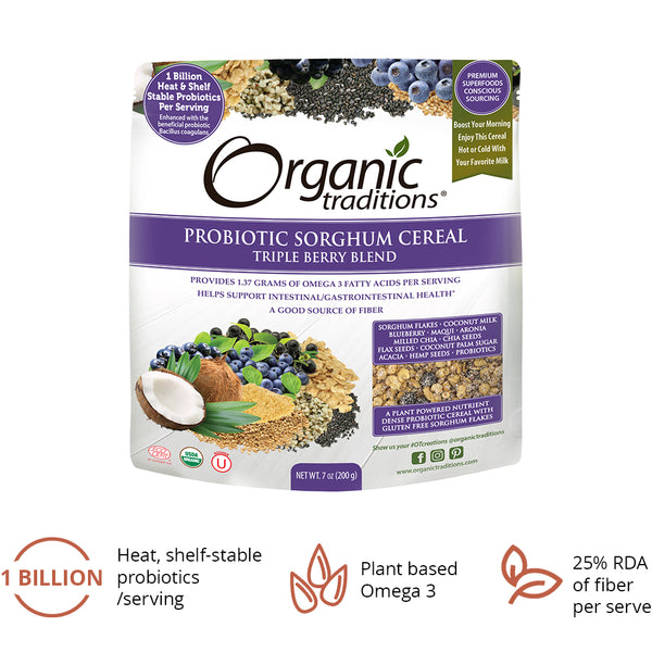 Organic Traditions Probiotic Cereal Berry Blend 200g