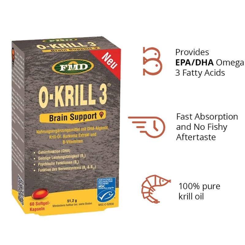 Udo's O-Krill 3 Brain support (60 softgels)