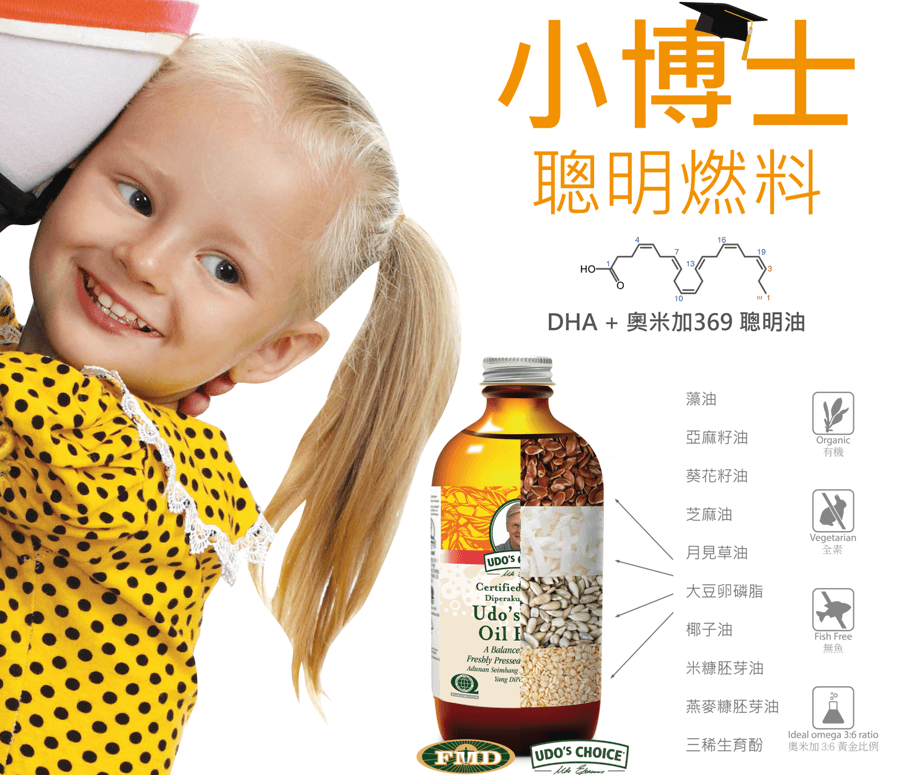Udo's Oil DHA Ingredient Poster_CN