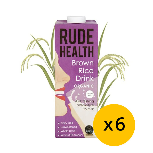 Rude health Brown Rice Drink 1L x 6