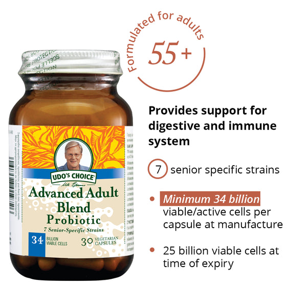Udo's Advanced Adult's Blend Probiotic 30's