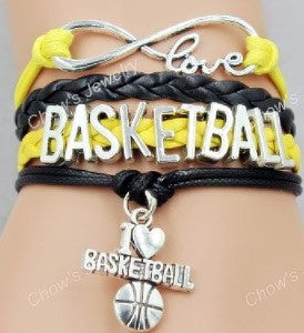 Basketball Bracelet - Yellow/Black