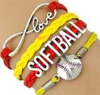 Softball Bracelet - Red/Yellow