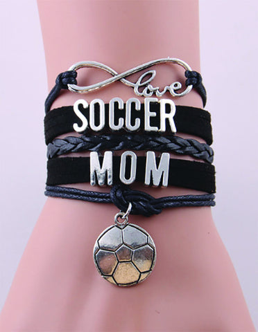 Soccer Mom Bracelet - Black