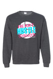 Heart Hustle Teamwork Volleyball Sweatshirt