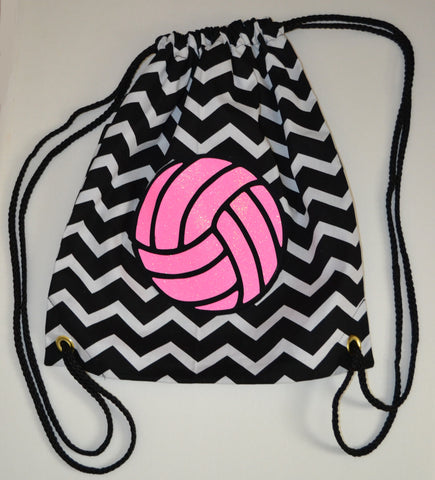 glitter volleyball bag