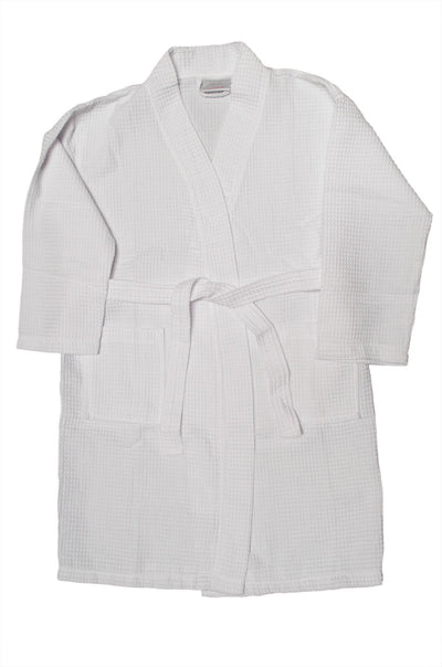 Bare Cotton Corporation Home, garden & living||Bath||Towels & washcloths Tight Lenght Waffle Kimono Robe - Women: White - Adult - One Size