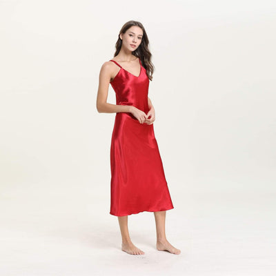 Cyan Trillium Women's Clothing 2019 Red Women Robe Sets Sexy V-Neck Satin