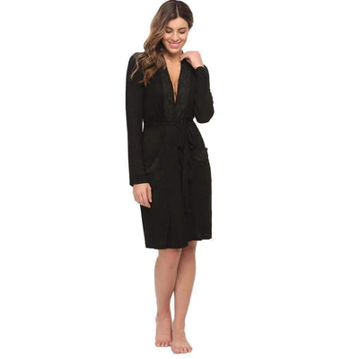 eprolo Gown & Robe Set Long Sleeve Pockets Lace Spa Bath Robe | LuxNightwear.com