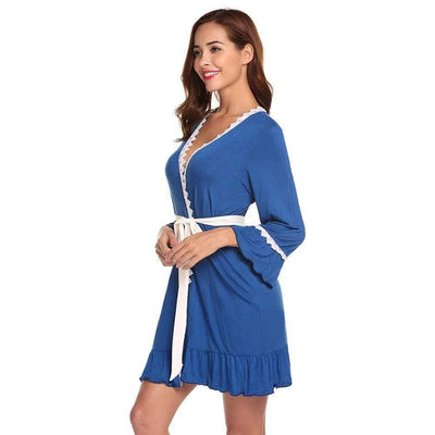 eprolo Robes Open Front Trumpet Lace Robes | LuxNightwear.com