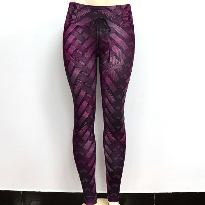 Lux Nightwear Apparel, shoes & jewelry||Apparel||Women||Activewear Purple / L High Waist Iron Armor Weave Print Push Up Yoga/Workout Leggings