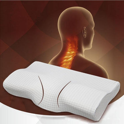 Lux Nightwear Emerald white / 50-30-10-7 cm Orthopedic Latex Magnetic 50*30CM White Color Neck Pillow Slow Rebound Memory Foam Pillow Cervical Health Care Pain Release