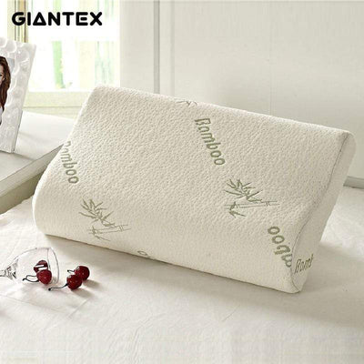 Lux Nightwear Get a Better Night Sleep Bamboo pillow / 30X50cm Sleeping Bamboo Memory Foam Orthopedic Pillow | LuxNightwear.com