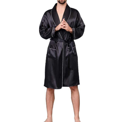 Lux Nightwear Gown & Robe Set Men Lounge Silk Nightwear Bathrobes gown Sleep Robes | luxnightwear.com