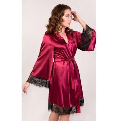 Lux Nightwear Gown & Robe Set Satin Women's Silk Dress Sleepwear Gown Lace Robe | Luxnightwear.com