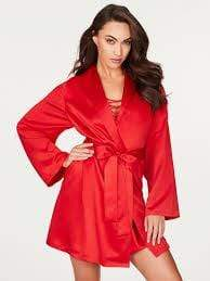 Lux Nightwear Lattice Lacing Sophisticated Summer Robe |Luxnightwear.com