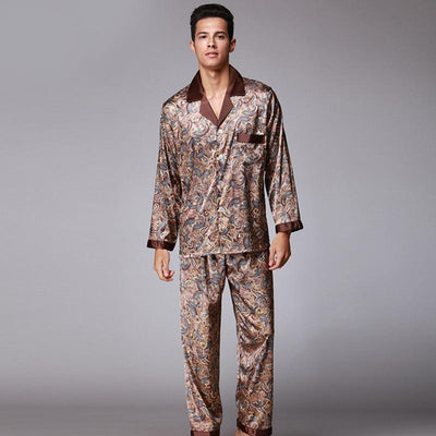Lux Nightwear Sleepwear Photo Color / XL Silk pajamas set