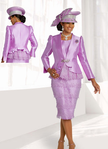 Donna Vinci 11829 Embroidered Organza Trim 2pc Jacket Dress