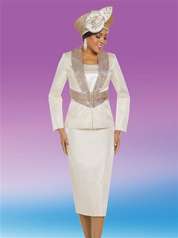 Ben Marc 48213 Jewel Embellished Beaded 3pc Suit