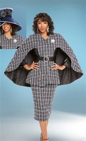 Donna Vinci 5602 Embellished Belted 2pc Suit