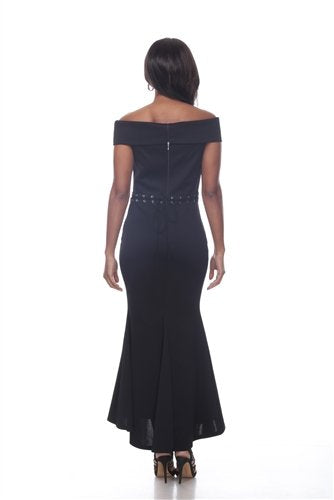 Love The Queen 17252 Off Shoulder Dress