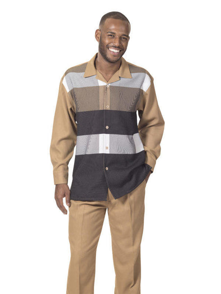 Montique 1739 Mens Walking Suit - Long Sleeve Mens Leisure Suits