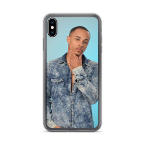 Jalen McMillan Blue Shirt iPhone case