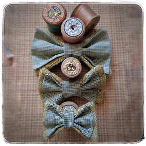 Harris and Vintage Tweed Bow ties for pets